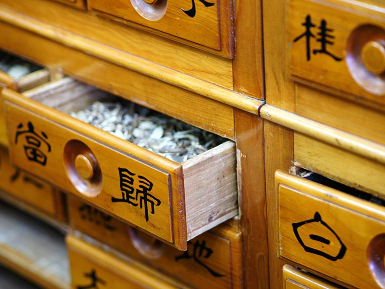 Chinese herbal medicine drawer