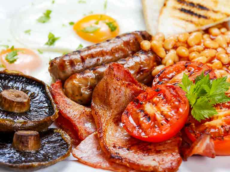 English fry up breakfast