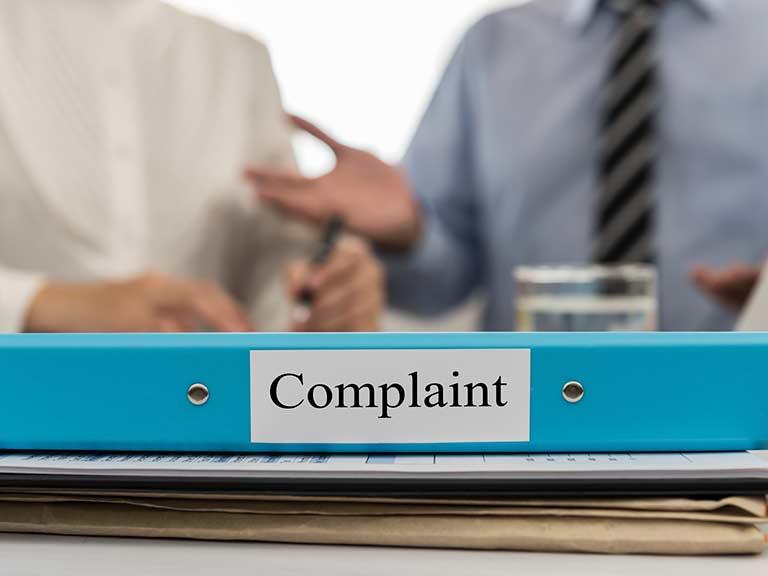 complaint about