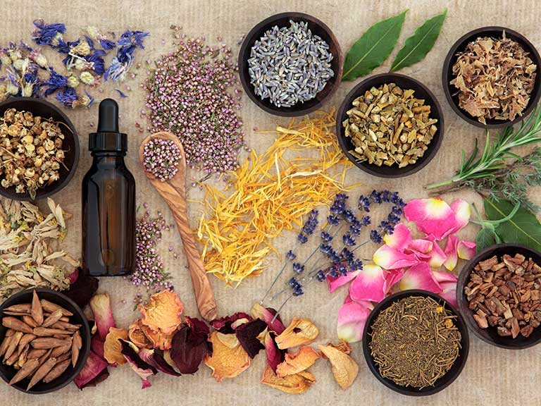 Herbal powders, tinctures and flowers