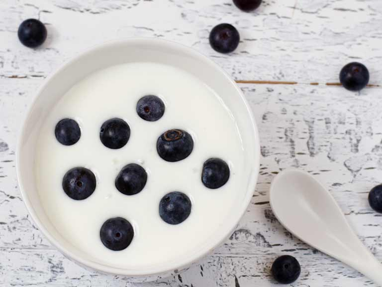 Yogurt and blueberries may both help lower blood pressure