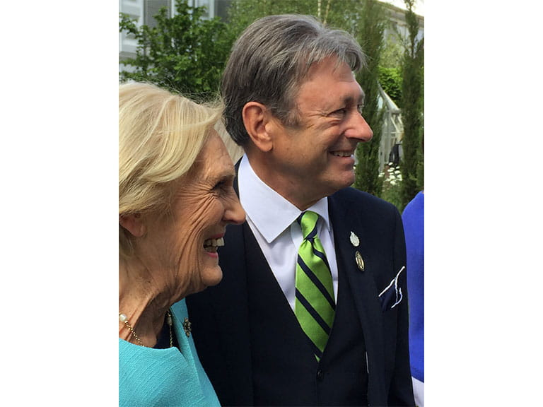 chelsea flower show, mary berry, alan titchmarsh