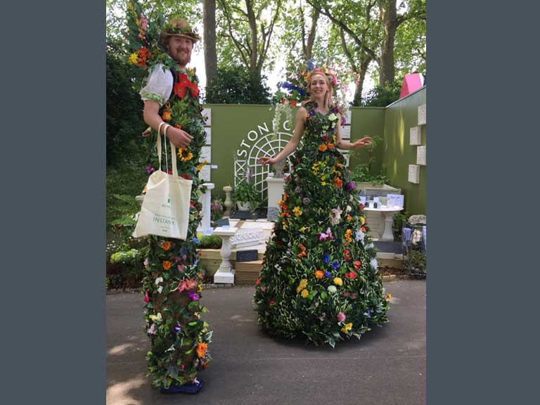 Flower people at Chelsea