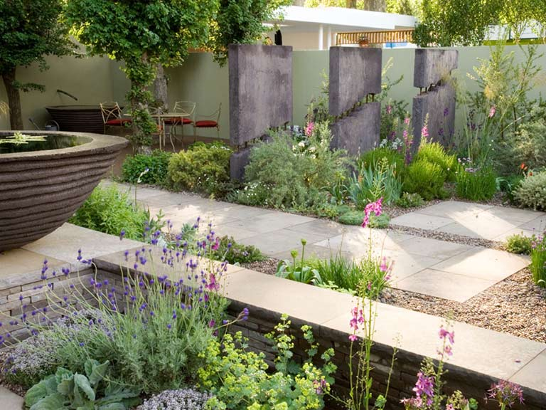 What happens to the plants after the chelsea flower show for Display home garden designs