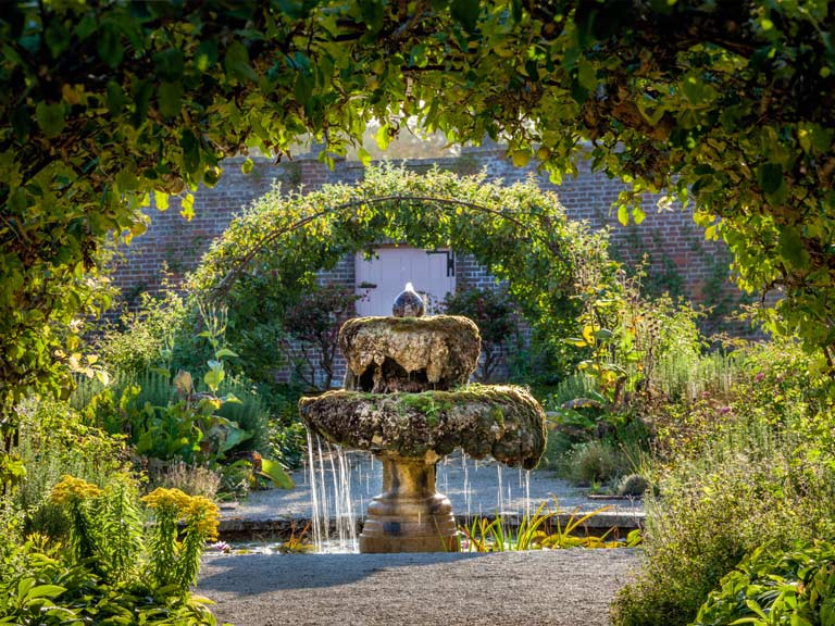 The fountain in the Walled Garden at Highgrove