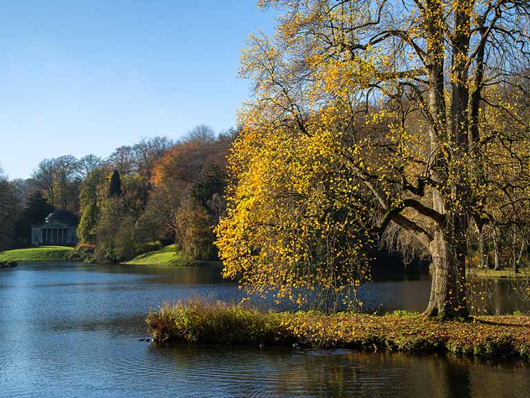 Stourhead garden in Wiltshire