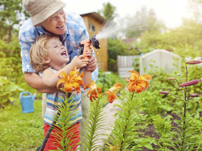 How grandparents can encourage a love of gardening saga for Garden trees homebase