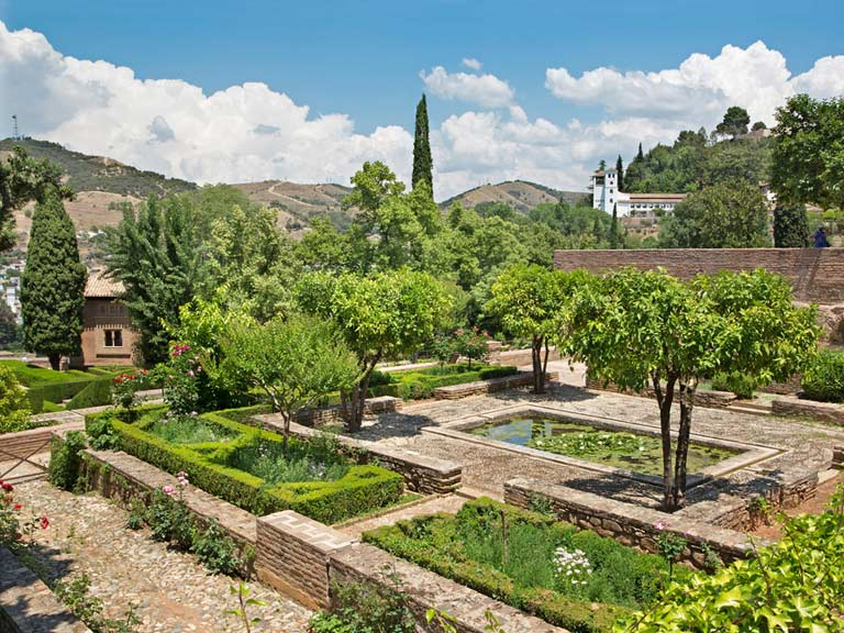 The Gardens of Alhambra palace, Granada