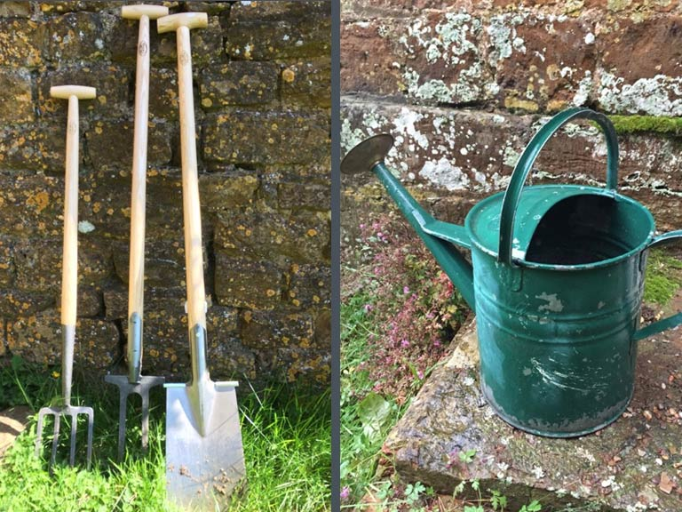 De Wit tools and Haw watering can