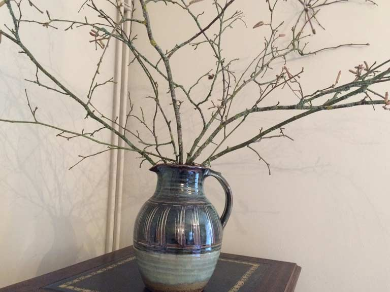 Hazel stems in a jug