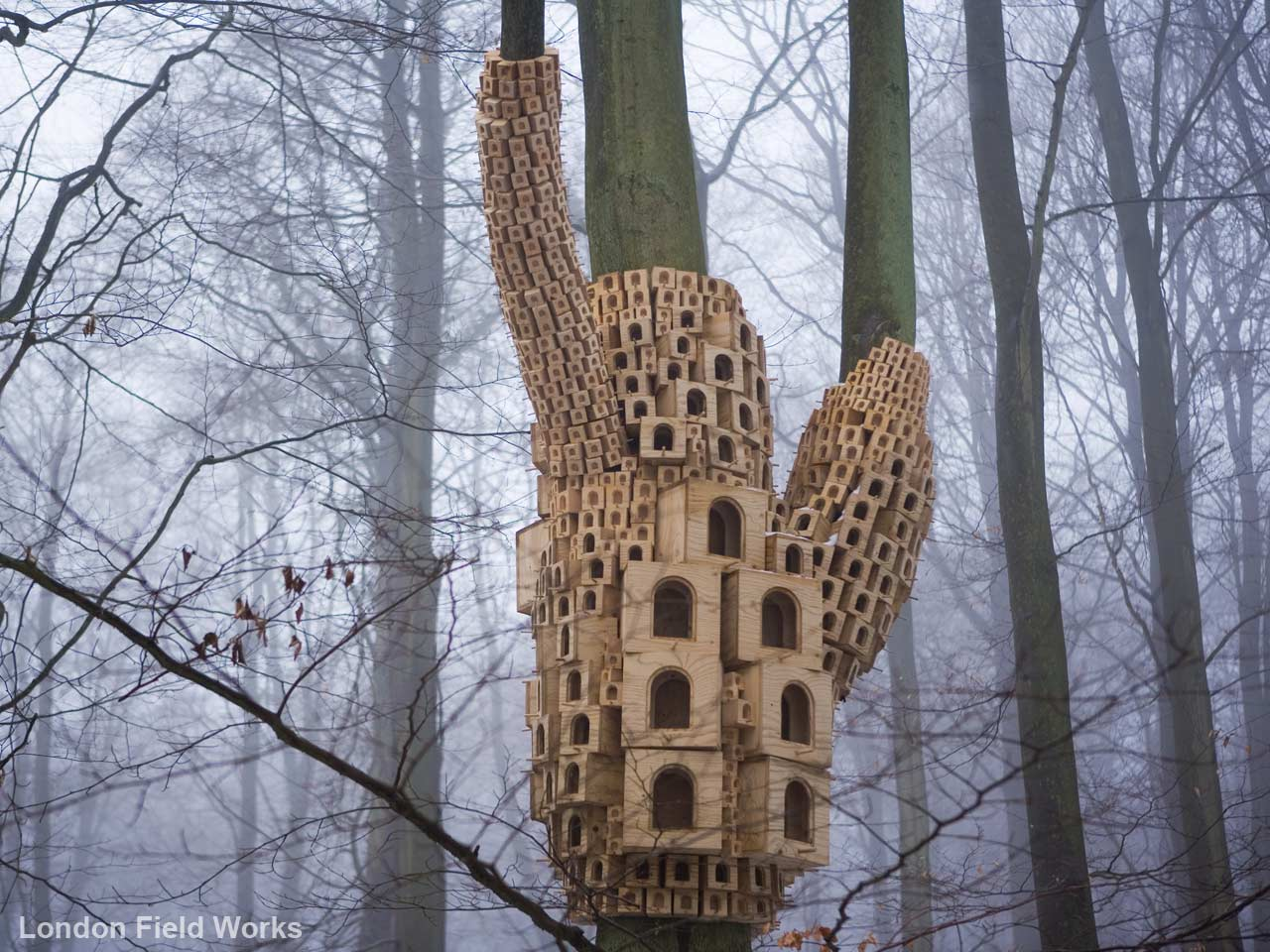 London Fieldworks birdhouse