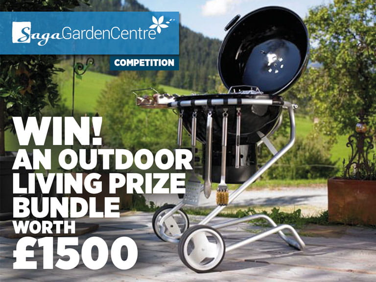 Win an outdoor living prize bundle worth £1500 with the Saga Garden Centre