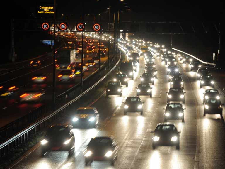 Motorway at night