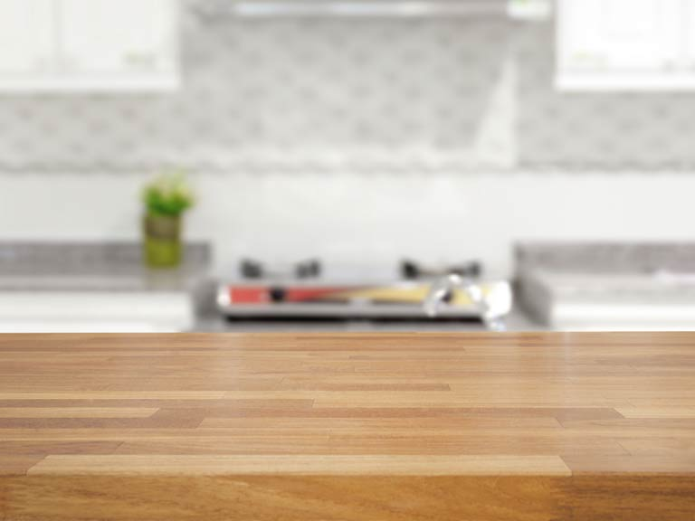 Oiled wooden worktop