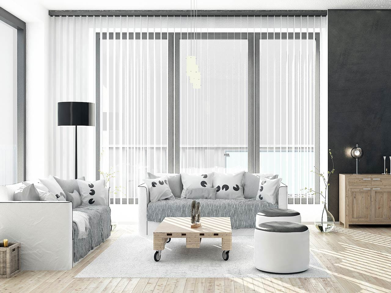 Privacy blinds for windows - Vertical Blinds Are Often Used On French Windows For Privacy