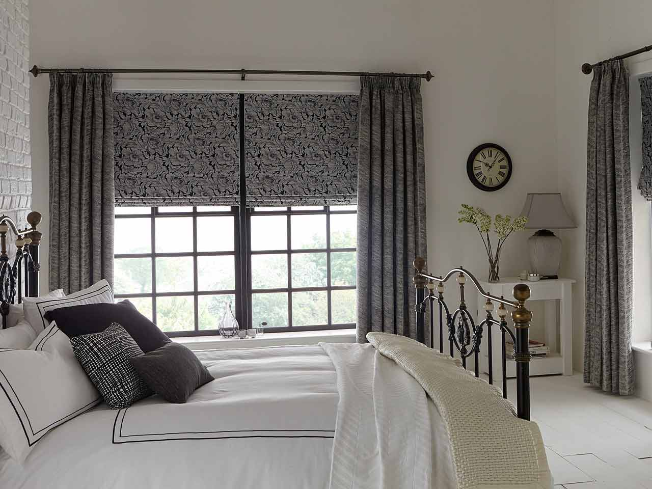 Style Studio's Feather Noir curtains with a classic pencil pleat