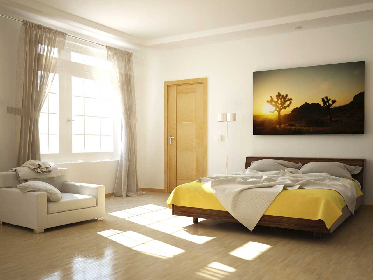 A bright and airy room