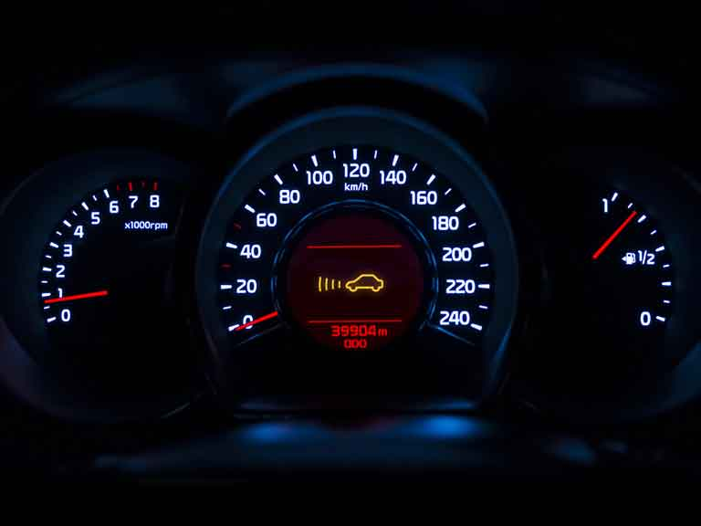 Adaptive cruise control light