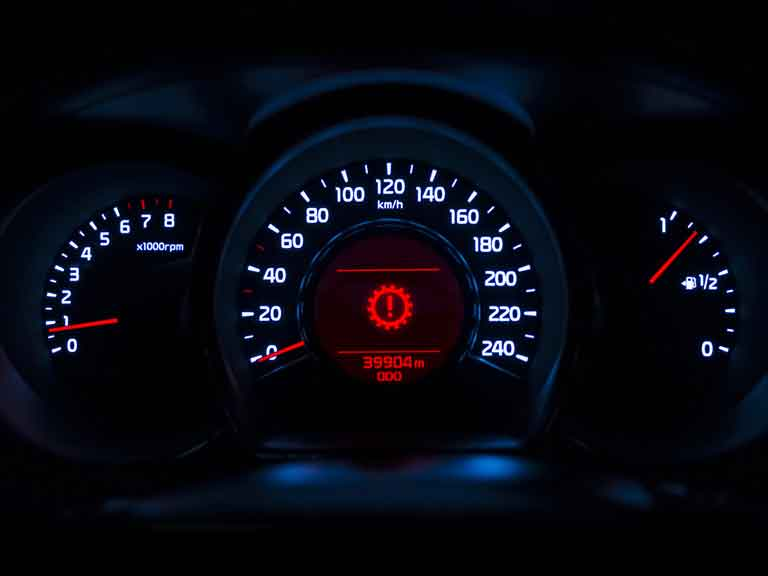 Direct-shift gearbox (DSG)/gearbox warning light