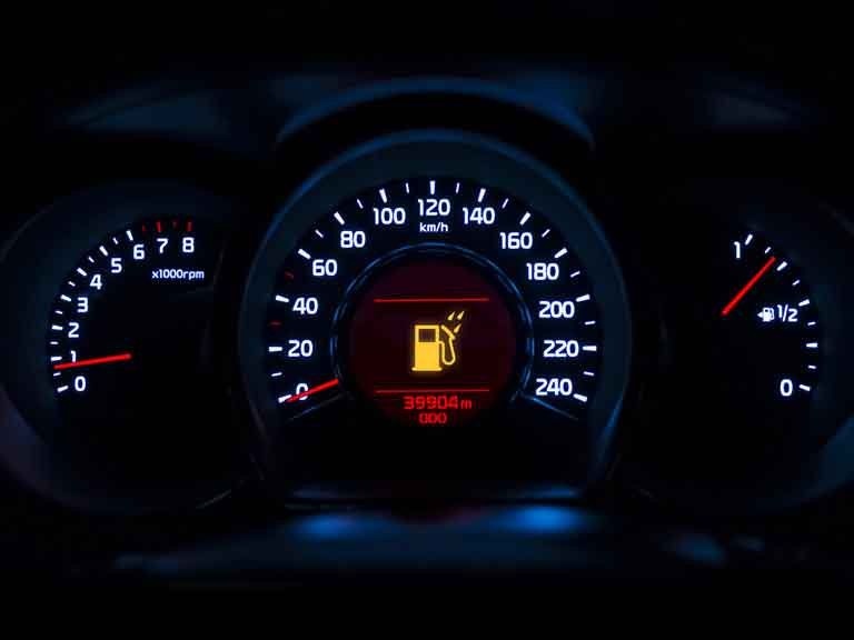 Fuel filter warning light