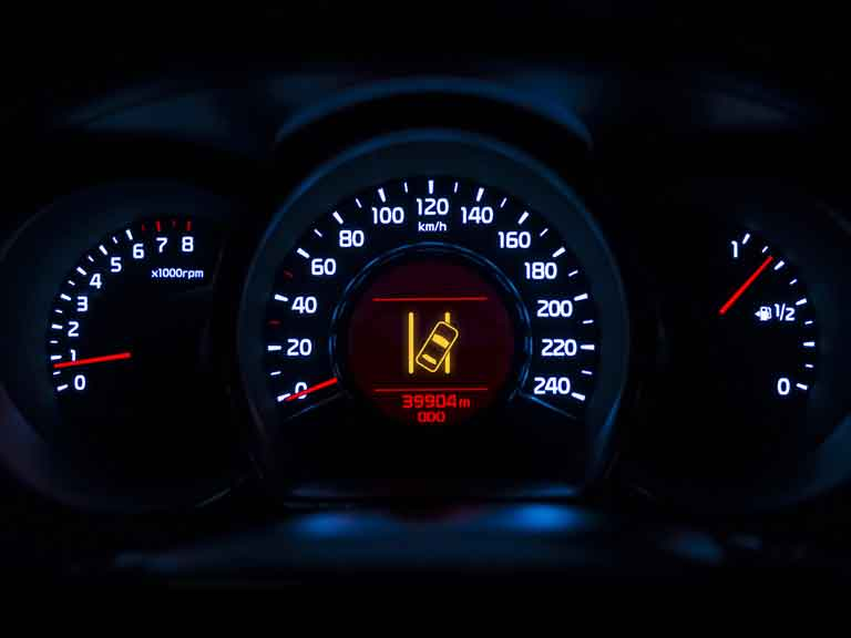 Lane departure warning light