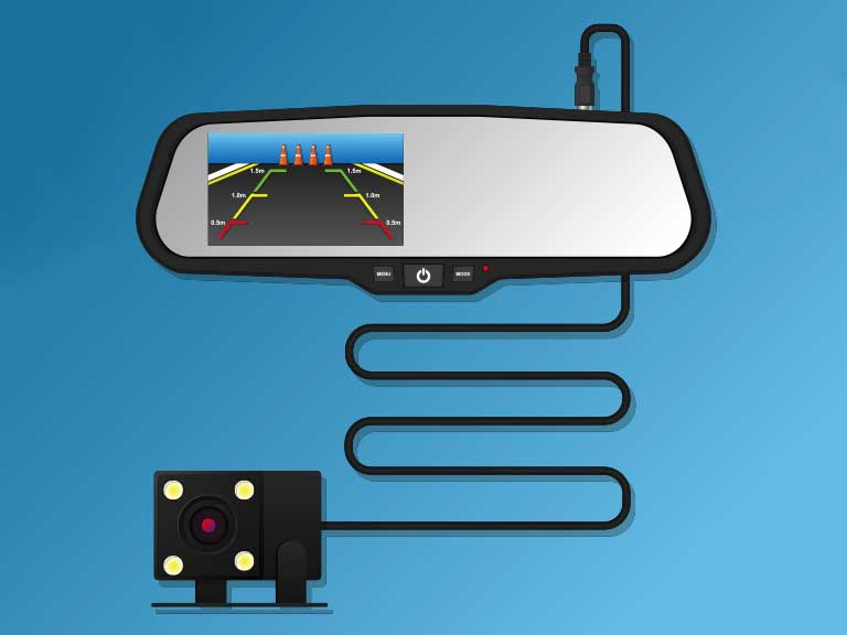 Rear view camera video recorder