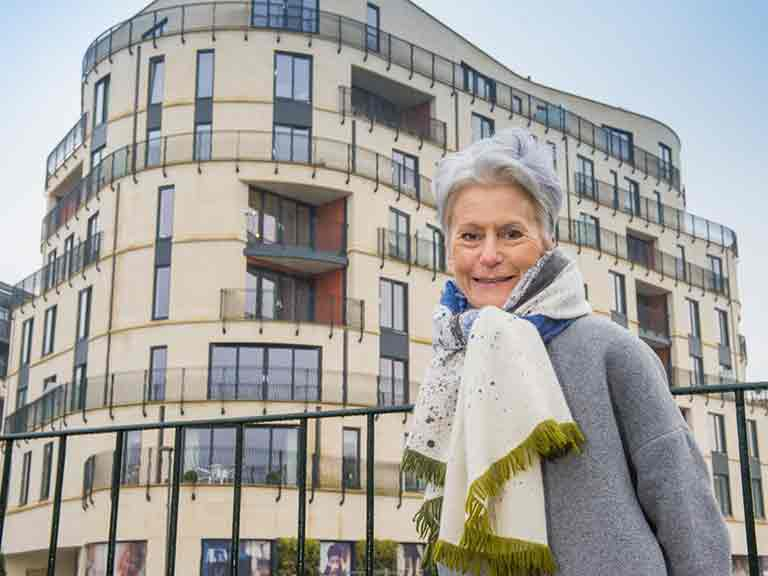 Susan Hay and her husband have found their Royal View apartment ideal for their busy lifestyle.