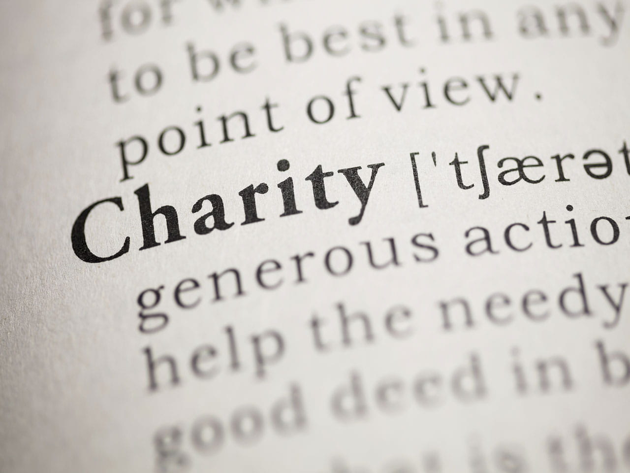 Dictionary definition of charity