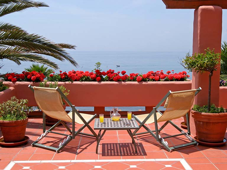 Terrace on property abroad in Spain