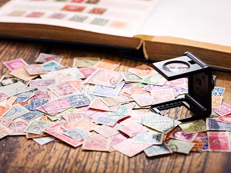 A stamp collection