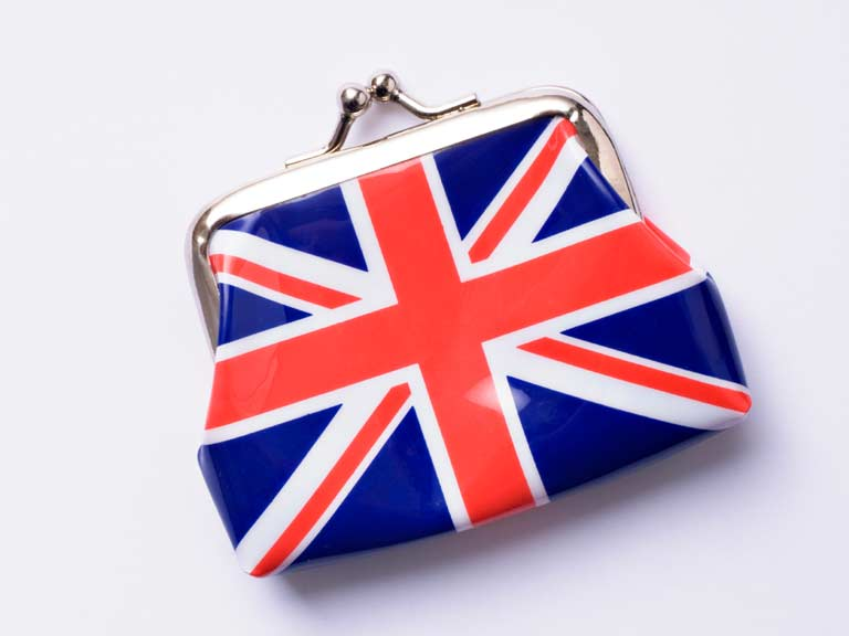 Purse with the union flag