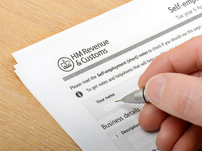 Tax self-assessment form