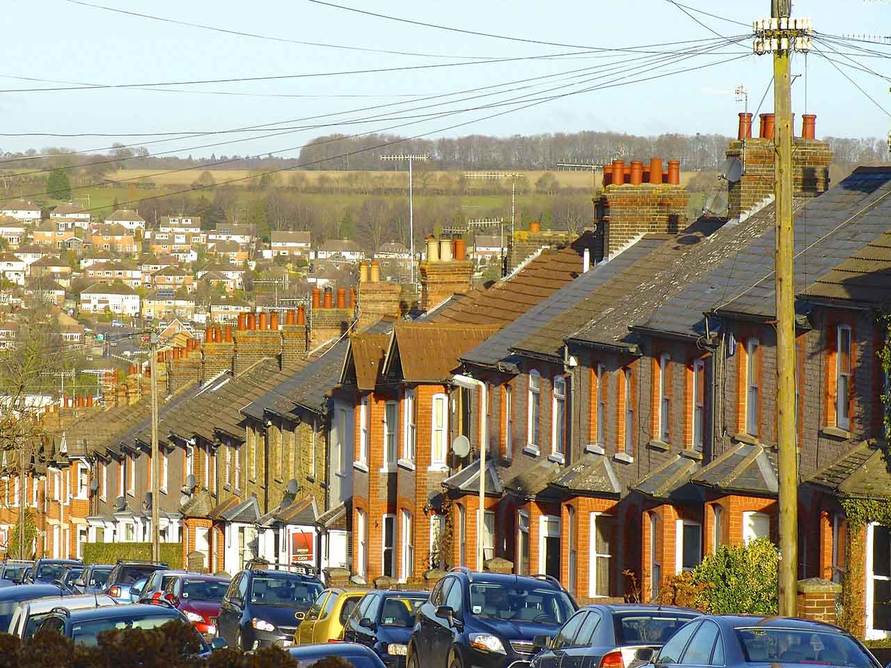 Block of terraced houses