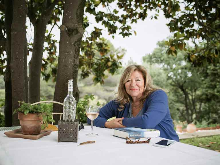 Carol Drinkwater at her olive farm in France. Photo by Sean Malyon