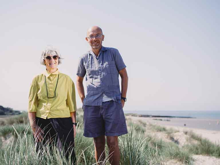 Wayne Hemingway with his wife Gerardine near their home in Sussex. Photo by Sean Malyon