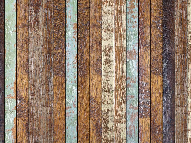 Old floorboards that probably would creak if walked on