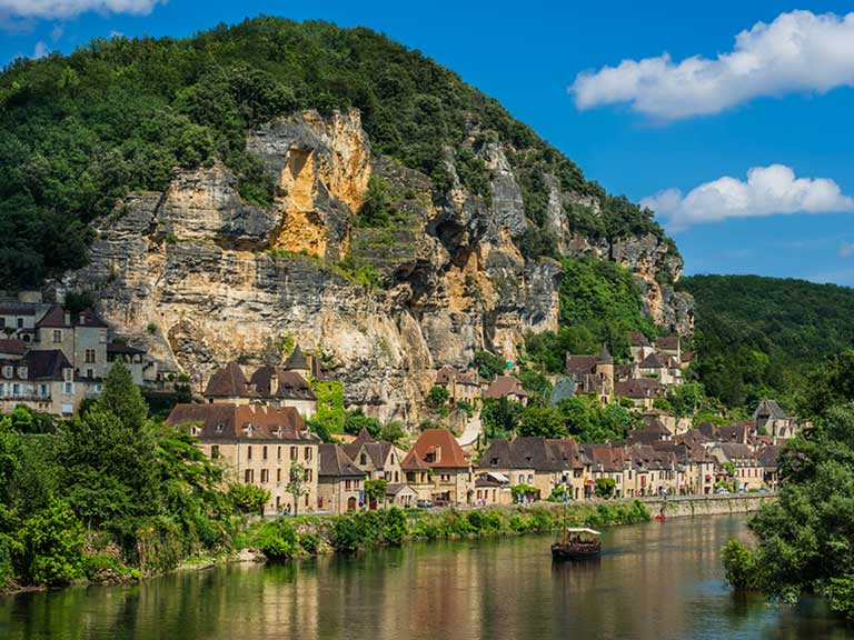 Perigord on the banks of the Dordogne River