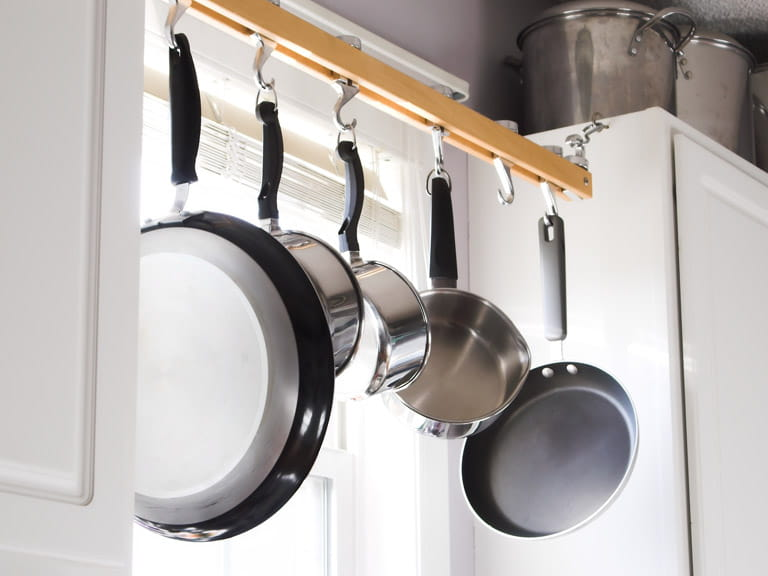 Moving pans and items that are used often within easy reach to save your relative from having to bend to get them