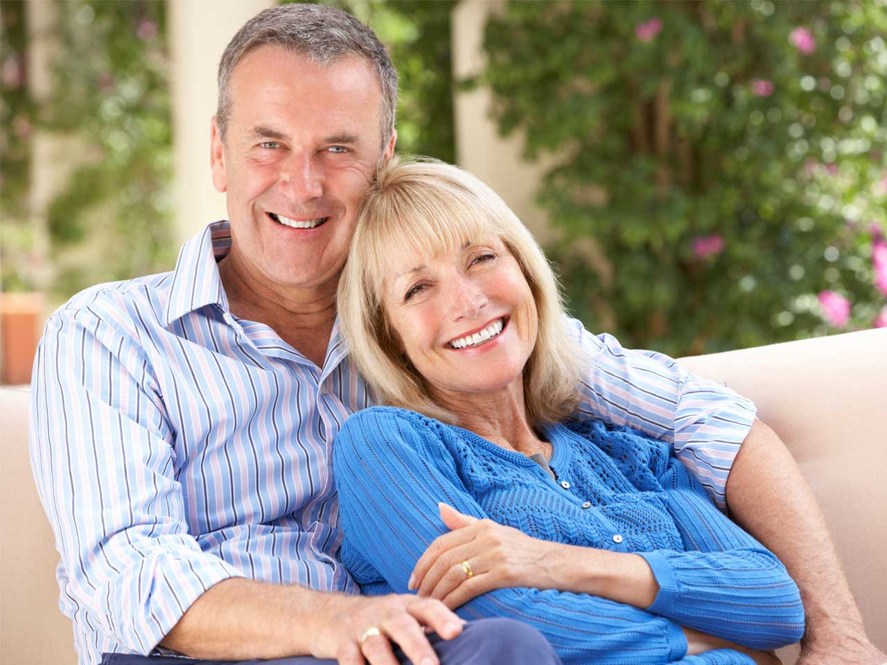 Smiling couple looking ahead to retirement