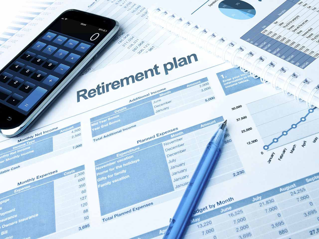 Retirement paperwork and pension statements