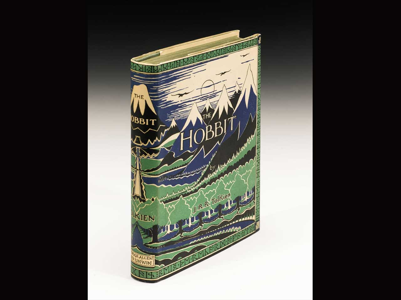 A signed and inscribed first edition of Tolkein's The Hobbit