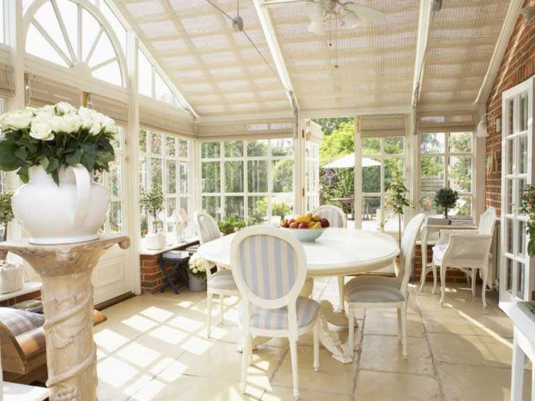 interior of an elegant conservatory