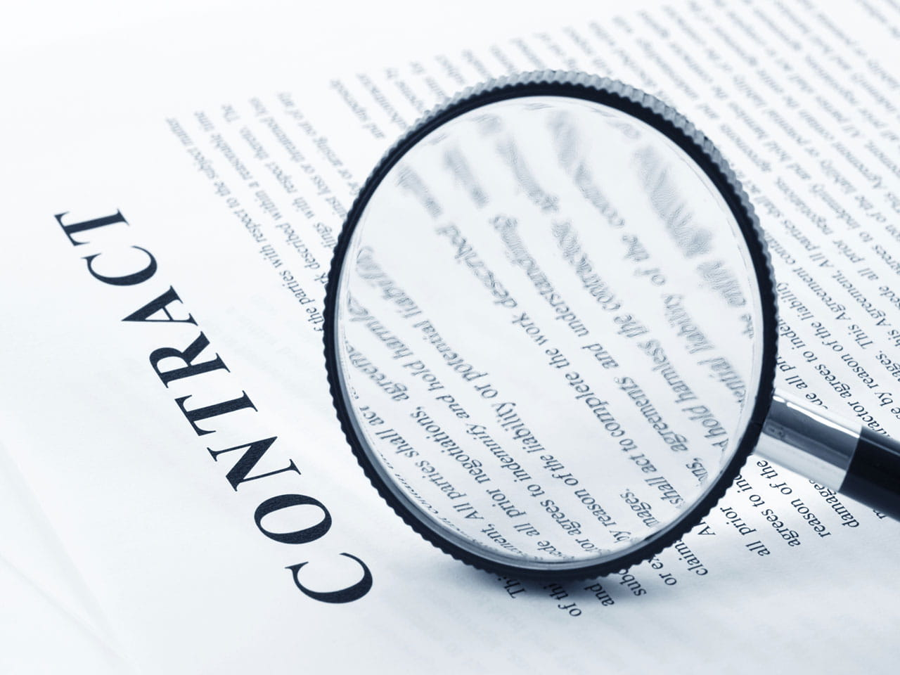 Contract under a magnifying glass