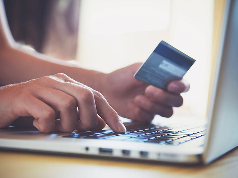 Online purchasing using credit card