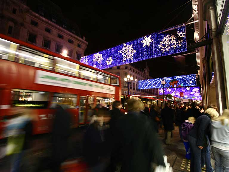 Christmas shoppers hit the streets in London on Black Friday