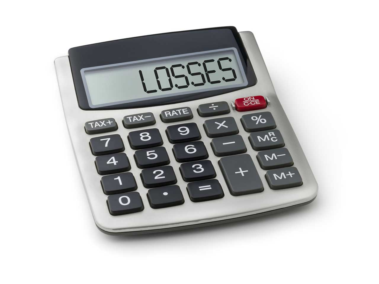 Calculator with losses