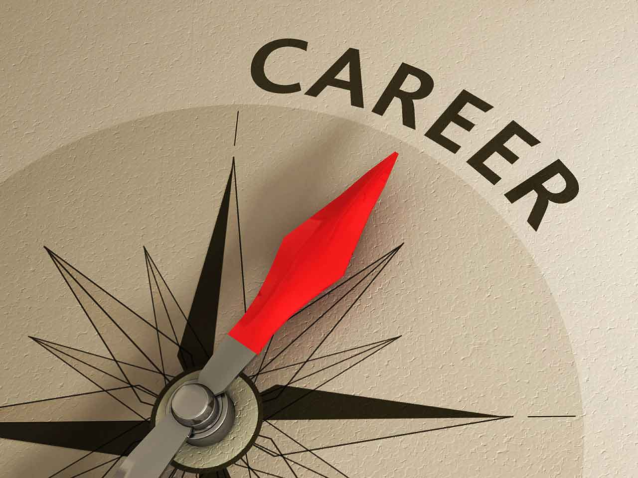 changing careers in midlife saga compass pointing to the word career
