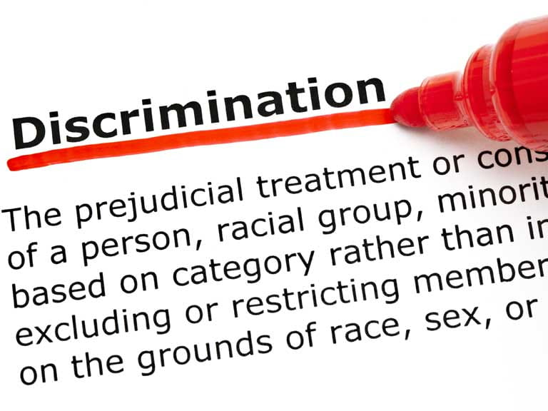 Dictionary definition of discrimination