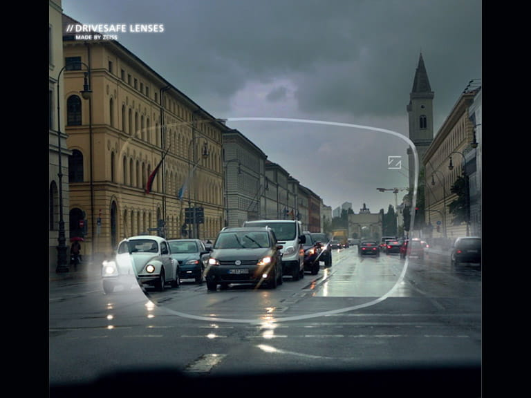 ZEISS DriveSafe lenses have been designed to cut glare and give better vision in low-light conditions