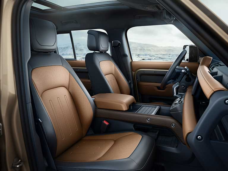 front seats of new Land Rover Defender